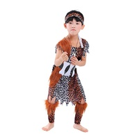 Halloween Kids primitive caveman costume kindergarten Children Cosplay Indian Savage Costume