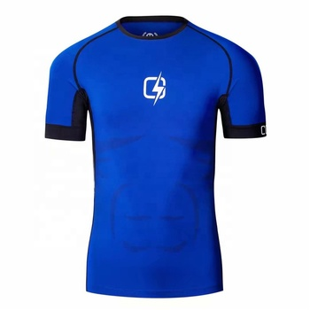 Athletic Quick Dry High Elastic Custom Sport T Shirt For Men Gym Fitness Wear