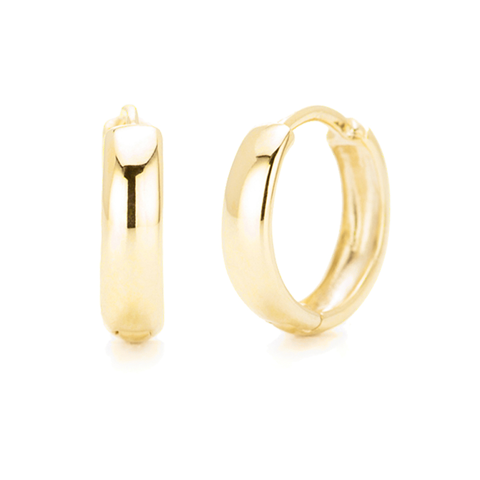 Silver Jewelry Manufacture 14K&18K Gold Vermeil Huggies 925 Sterling Silver Plated Bold Hoop Earrings