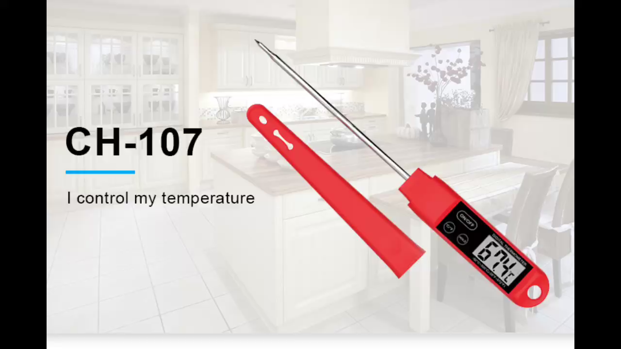 CH-107 Food Temperature Thermometer Liquid Kitchen Digital Food Thermometer with backlight