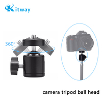 360 Swivel Camera Tripod Ball Head 1/4 Inch Screw Mount Bracket For Nikon Sony Canon DSLR Camera Tripod Ball head Stand