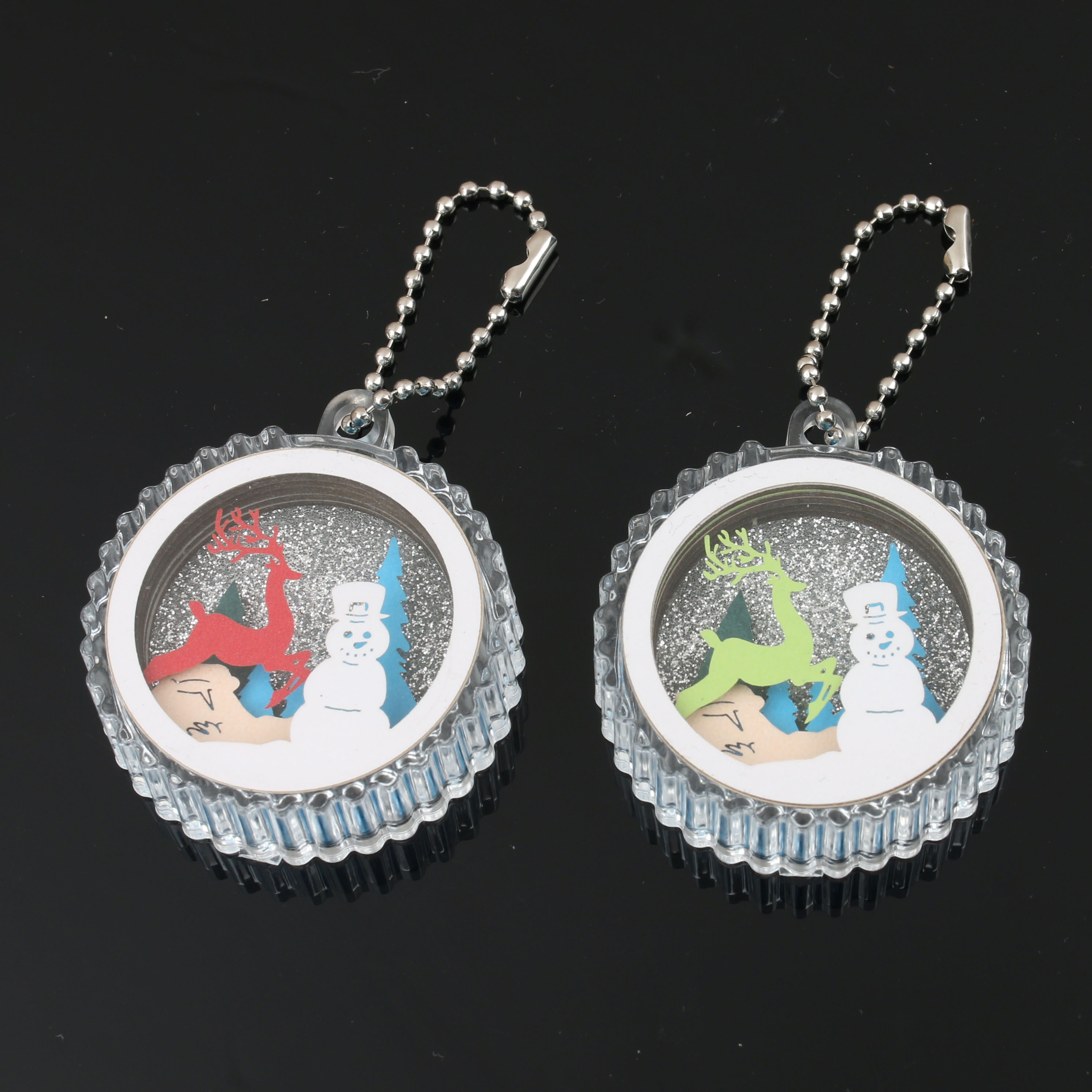 Glitter Eco-Friendly Transparent 3D Charm Anime Blank Clear Make Your Own Custom Printed Acrylic KeyChain