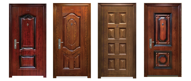 cheap commercial security steel decorative internal residential safety doors