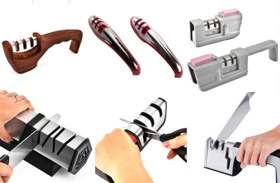 Nuevo cuchillo de cerámica de acero de 4 etapas, afilador eléctrico con ruedas de diamante, afilador rápido, cuchillos de cocina, afilador eléctrico