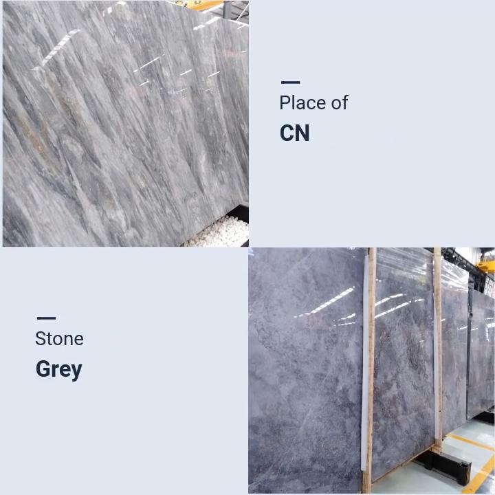 Dora Cloud Gray Marble Floor Tiles Wall Tiles, Subtle Grey Marble 1 Meter Panel
