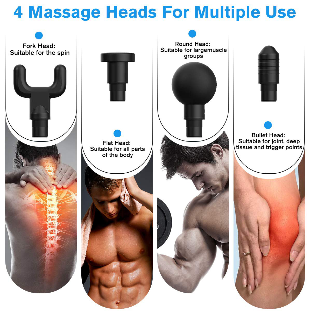 2020 new arrivals dropshipping massage gun percussion muscle massager