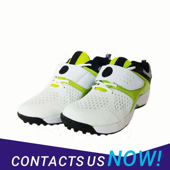 Bianco personalizzato sport spikes suola scarpe da cricket per gli uomini