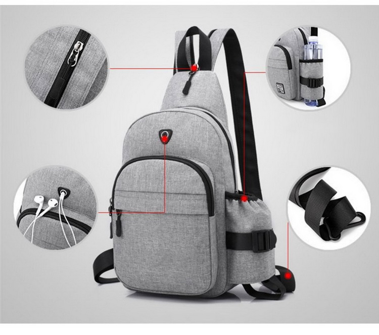 High Quality Oxford cloth Chest Bag Factory Wholesale Travel Bag Children Small Backpack for men