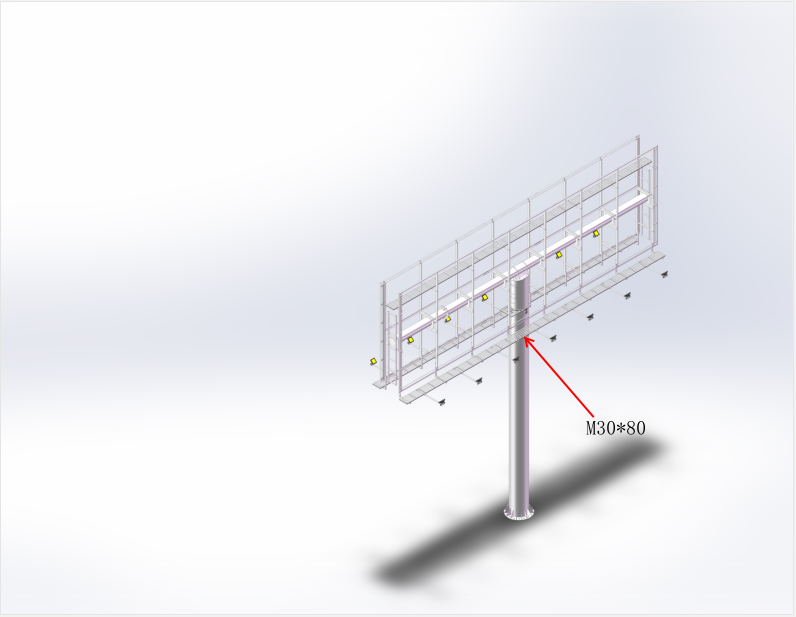 product-Advertising unipoles billboard structure frame for advertising-YEROO-img-3