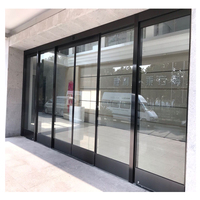 2019 High quality cheap price industrial aluminum automatic sliding door glass door