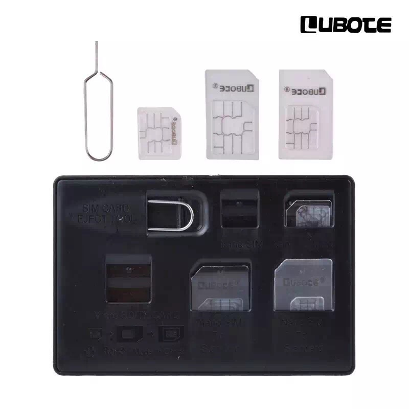 Cheap Promotional SIM Card adapter Storage Holder Micro Nano SIM Card Holders With Tray Opener Pins