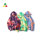 New style men multi color heavyweight tie dye hoodies