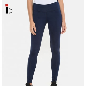China manufacturer high quality dry fit yoga women navy blue solid tights