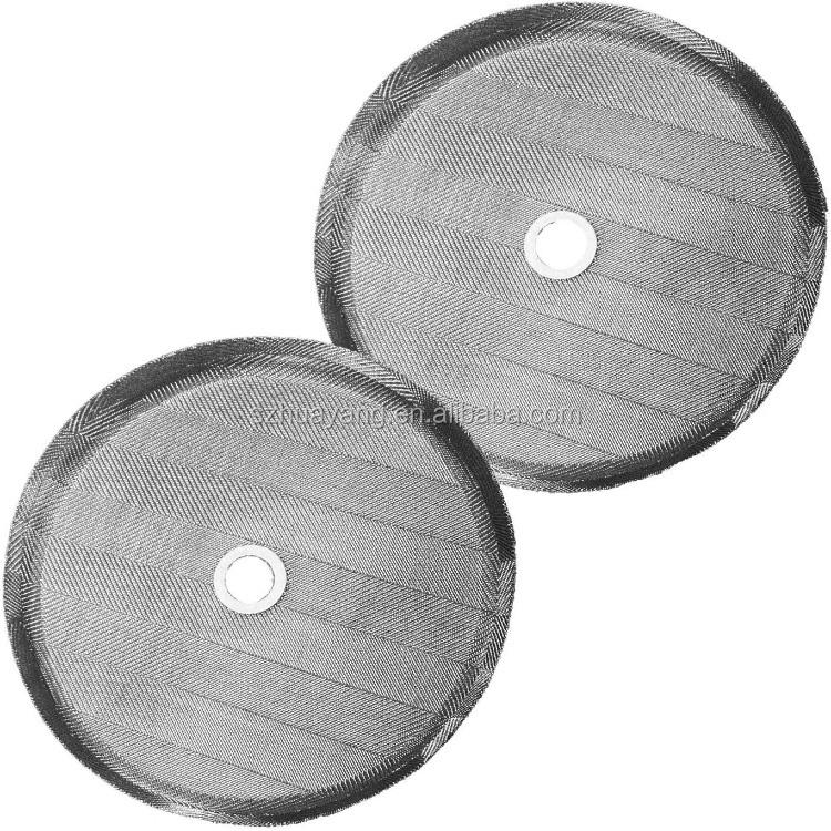 Pantalla universal de filtro de prensa francesa de 5 piezas Reemplazo de filtro de prensa francesa de acero inoxidable 304 de 3para 350 ml// 800ml// 1000 ml de prensa francesa Cafeteras