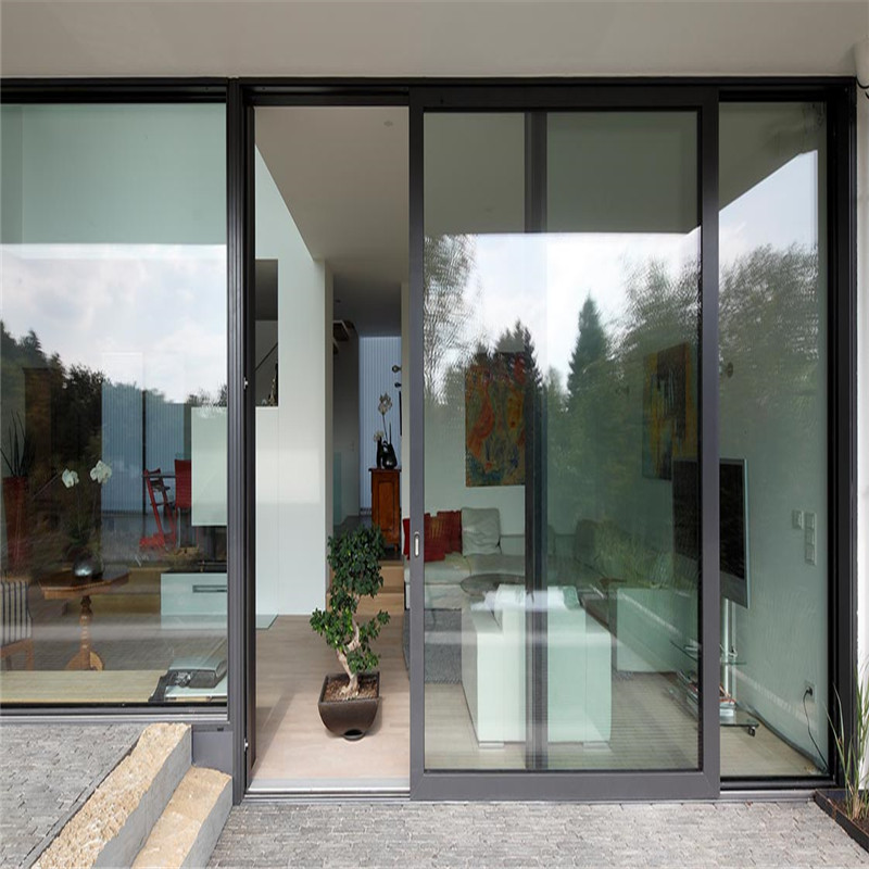 Aluminum sliding door single/double glazing tempered  glass sliding door
