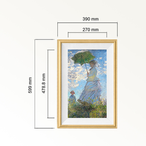 Bright color displaying lcd electronic picture frame with customize wood frame