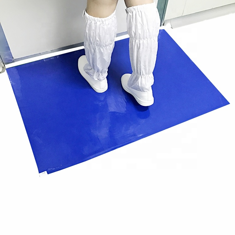 30 lagen 35um LDPE Film waterbasis Acryl Besmetting Controle Cleanroom ESD Anti Statische Sticky Mat