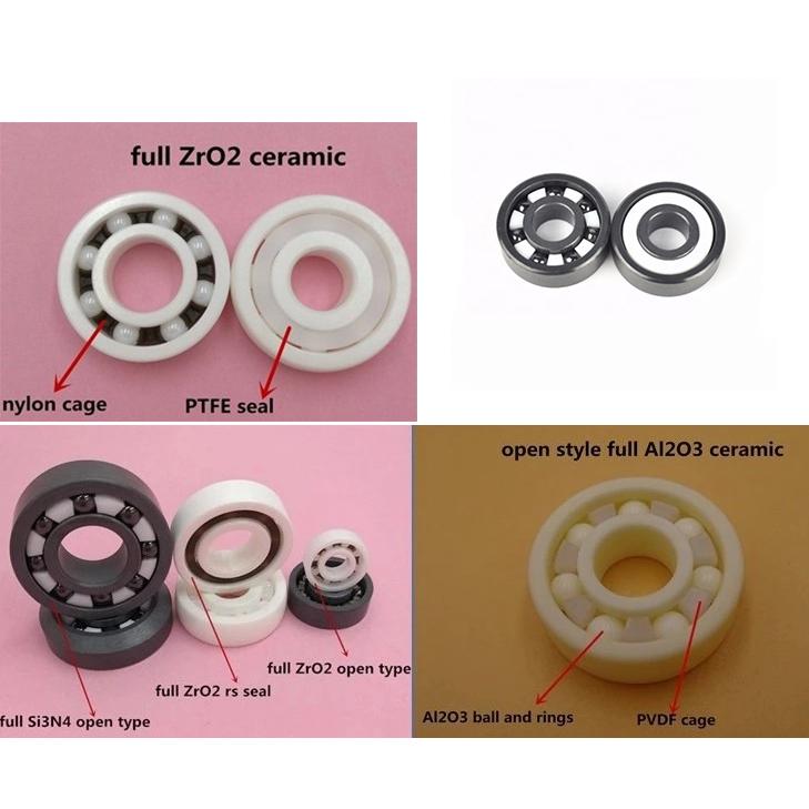 689-2RS 689 Volle ZrO2 Si3N4 Keramik Kugellager 9x17x5