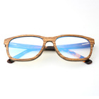 GJWS021 HD Waterproof Strong Custom Logo Natural Wood Frame Glasses Anti Blue Light