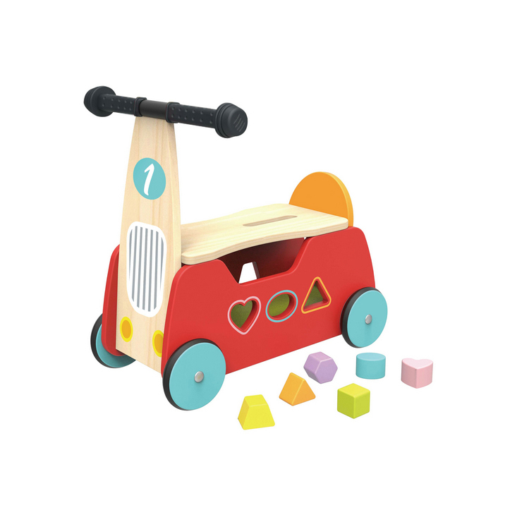 New Design Wholesale Children Ride on Truck Wooden Toy
