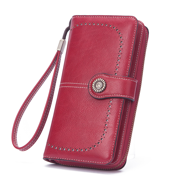 MIYIN New carteras lady's clutch bag large capacity long wallets folding zipper ladies purse multifunctional leather wallet wome