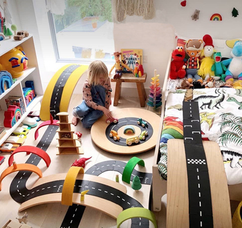 2020 Best China Track Train Set Toys Montessori Toys For Children Railway Washable PVC With Balance Board
