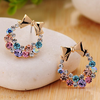 fashion amazon colorful diamond earrings studs accessories butterfly embroidery boho flower earring stud set design for women