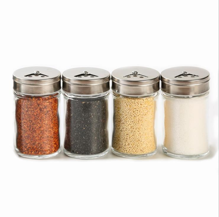 Hot selling glass spice shaker /salt grinder glass/salt pepper spice shaker