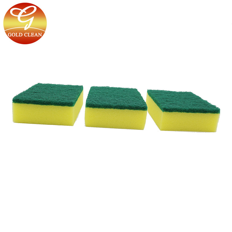 kitchen cleaning sponge with scouring pad
