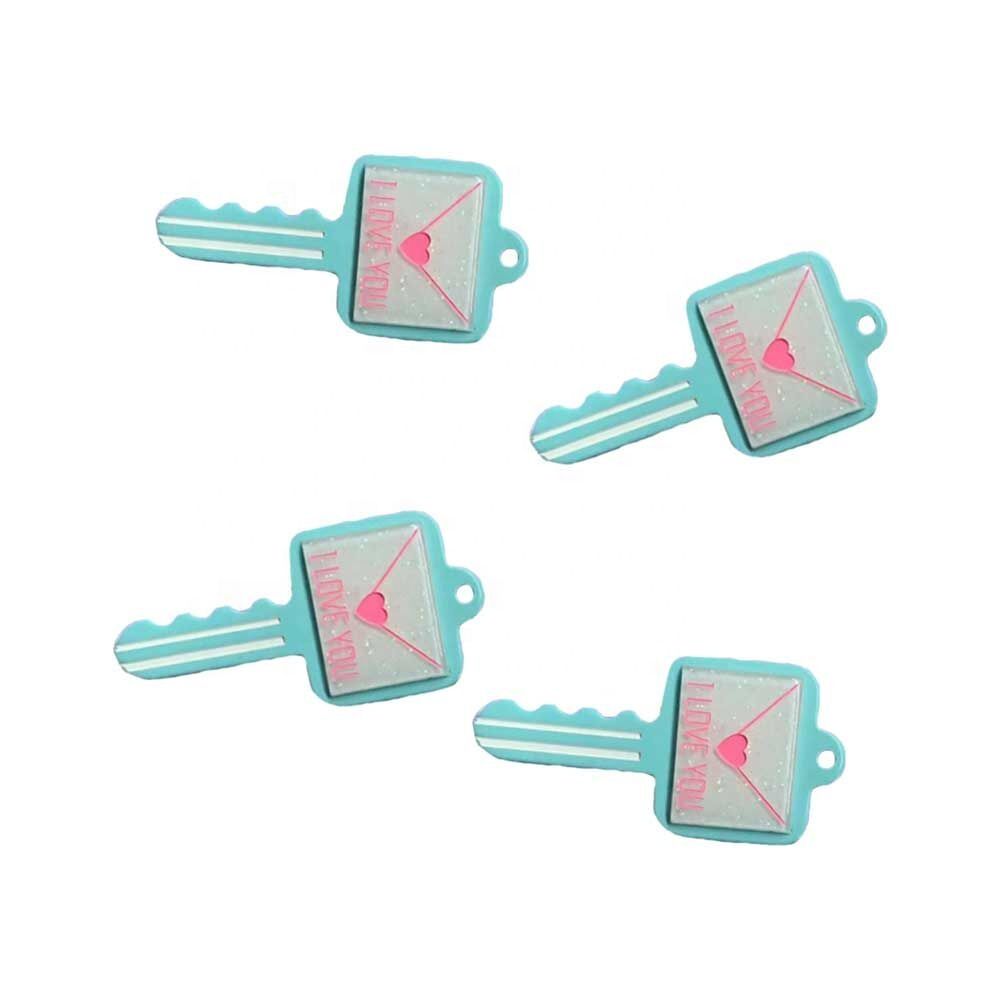 Hotsale 100pcs Colorful Kawaii Resin Key Charms Pendant For Diy Keychain Supplies Decoration