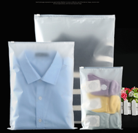 Custom Biodegradable Apparel Waterproof PVC Frosted Ziplock Bag In Packaging Bags With Zipper For Underwear