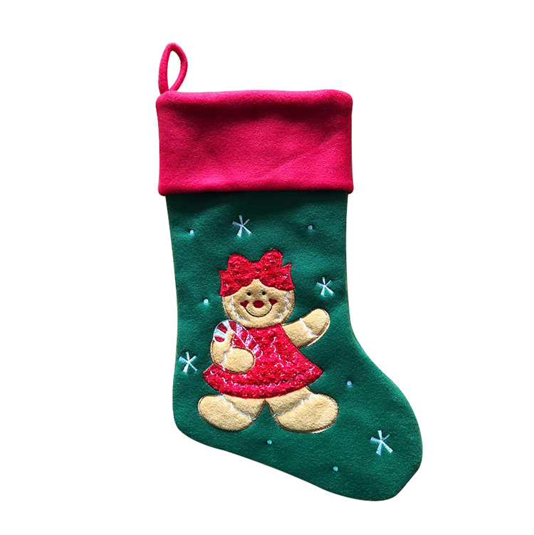 Embroidery Personalized <strong>Christmas</strong> Stockings Cute Bear For <strong>Baby</strong> <strong>First</strong> <strong>Christmas</strong> Day