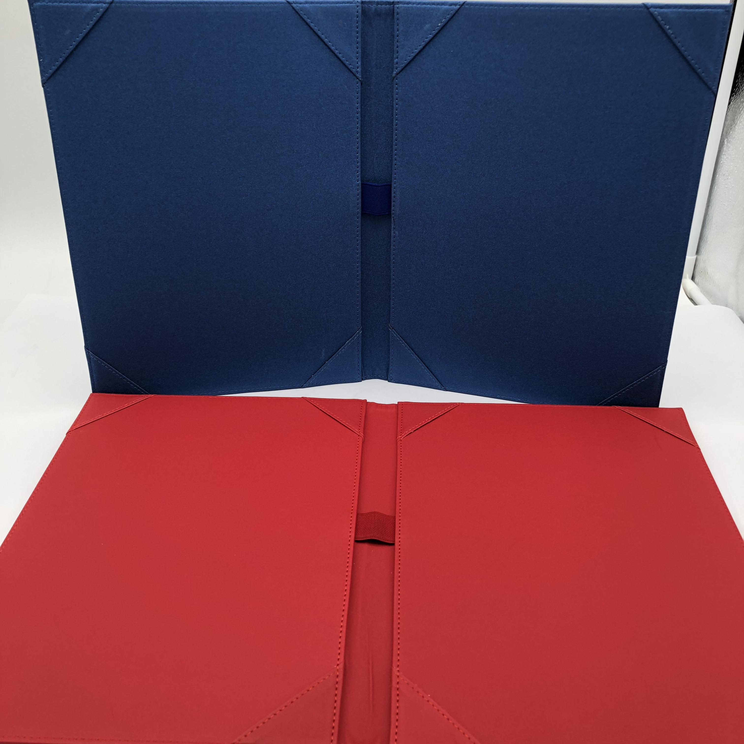 Office supplies stationery document zip presentation leather portfolio folder