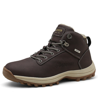 Mens Large Size Soft Martin Boots Hiking Shoes Cotton Sneakers