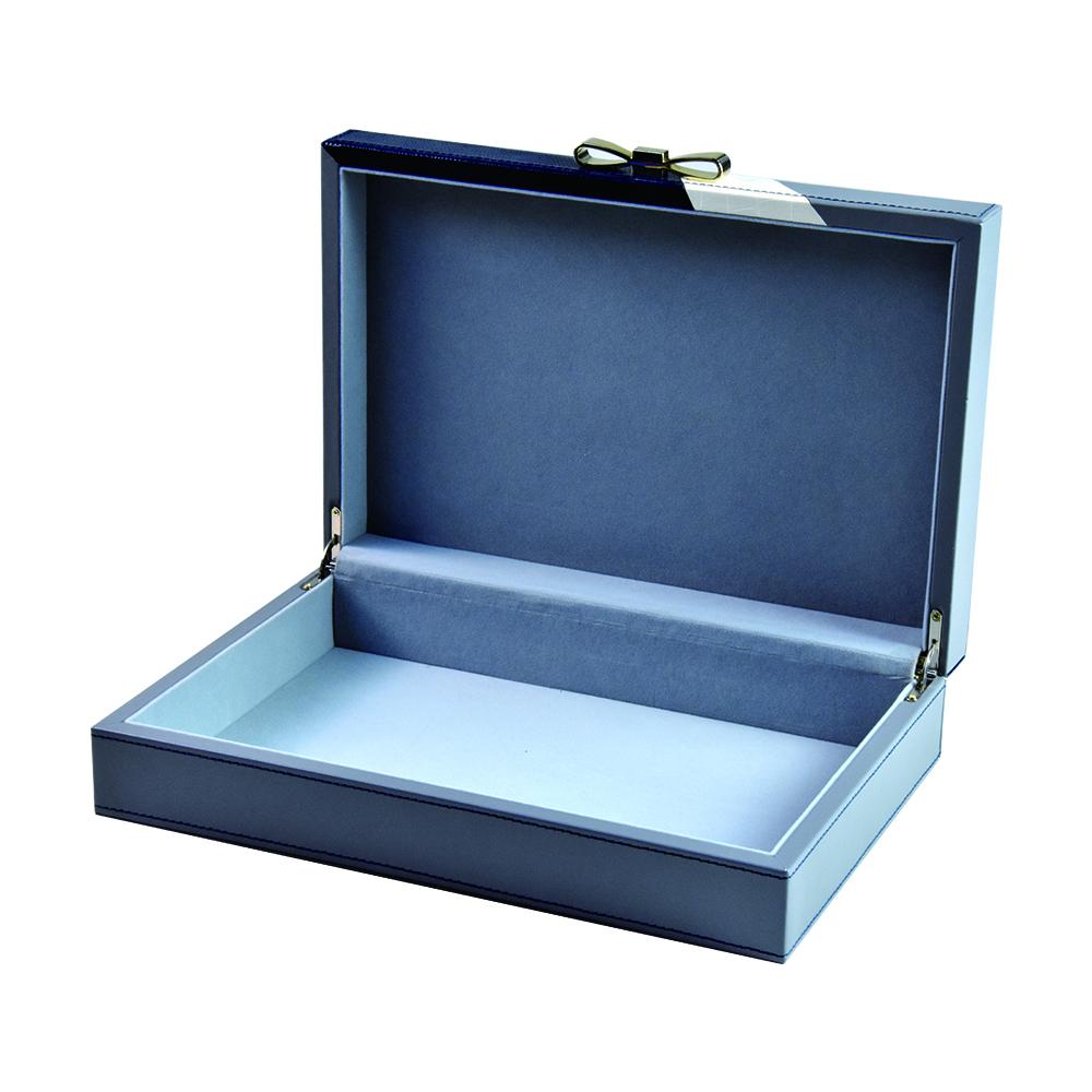 2019 New design luxury custom silk printing wooden leather jewelry gift box