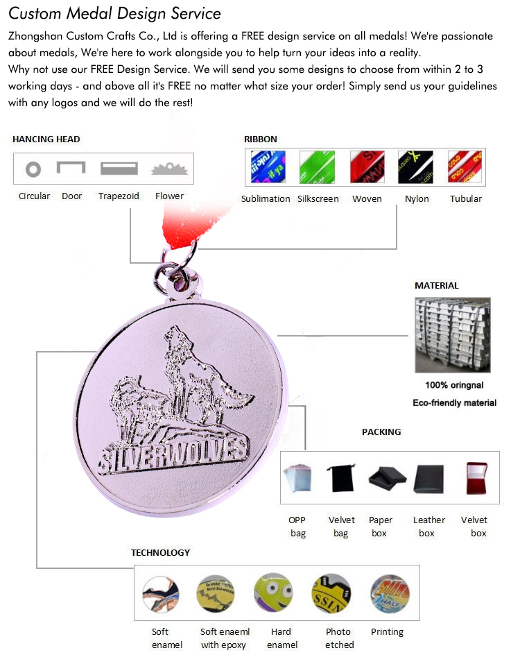 Factory Customized Zinc Alloy Plating Colorful Metal Tennis Sports Awards Wholesale High Quality Medal