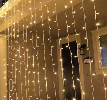 Safety Indoor Outdoor 900 LED 9M*3M 220V 110V Christmas Wedding Party Decorations Fairy String Curtain Lights