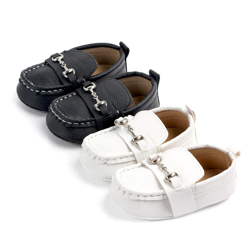 Amazon sıcak PU deri kayma 0 2 yaşında bebek rahat ayakkabılar deri bebek mokasen