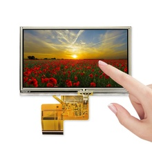 4.7 inch 480x272 industriële Draagbare Navigatie <span class=keywords><strong>tft</strong></span> <span class=keywords><strong>lcd</strong></span> resistive touch screen touchscreen display module fpc TM047NBH03