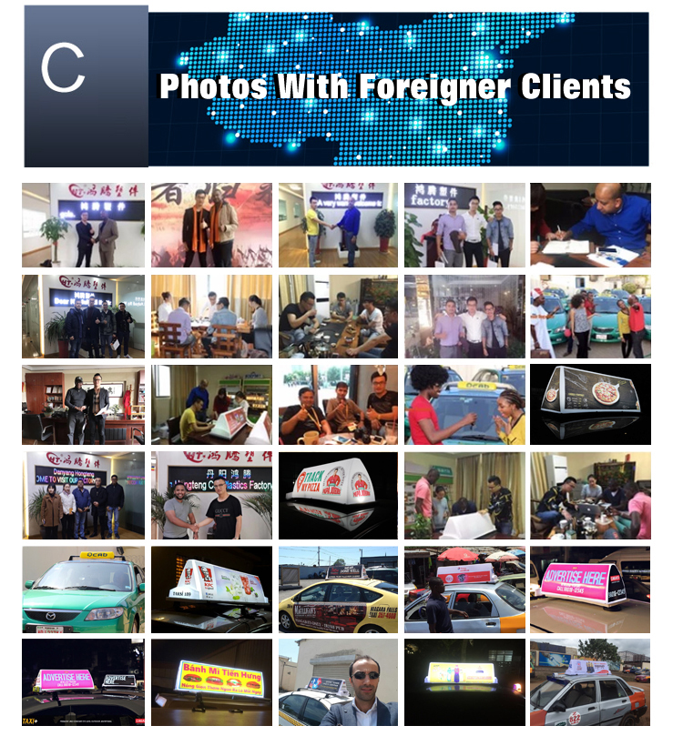 Rectangle led advertising screen for car topper signs with CE