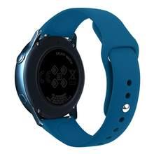 20 мм ремешок для часов Силиконовый ремешок для samsung Galaxy Watch Active 2 gear s2 заменить Мужские t часы женские мужские браслет часы ремешок(Китай)
