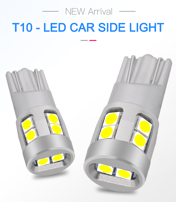 Patented Design 380LM White Red Amber Lights Led Car Mini T10 W5w 194 Led License Plate Light DJ276