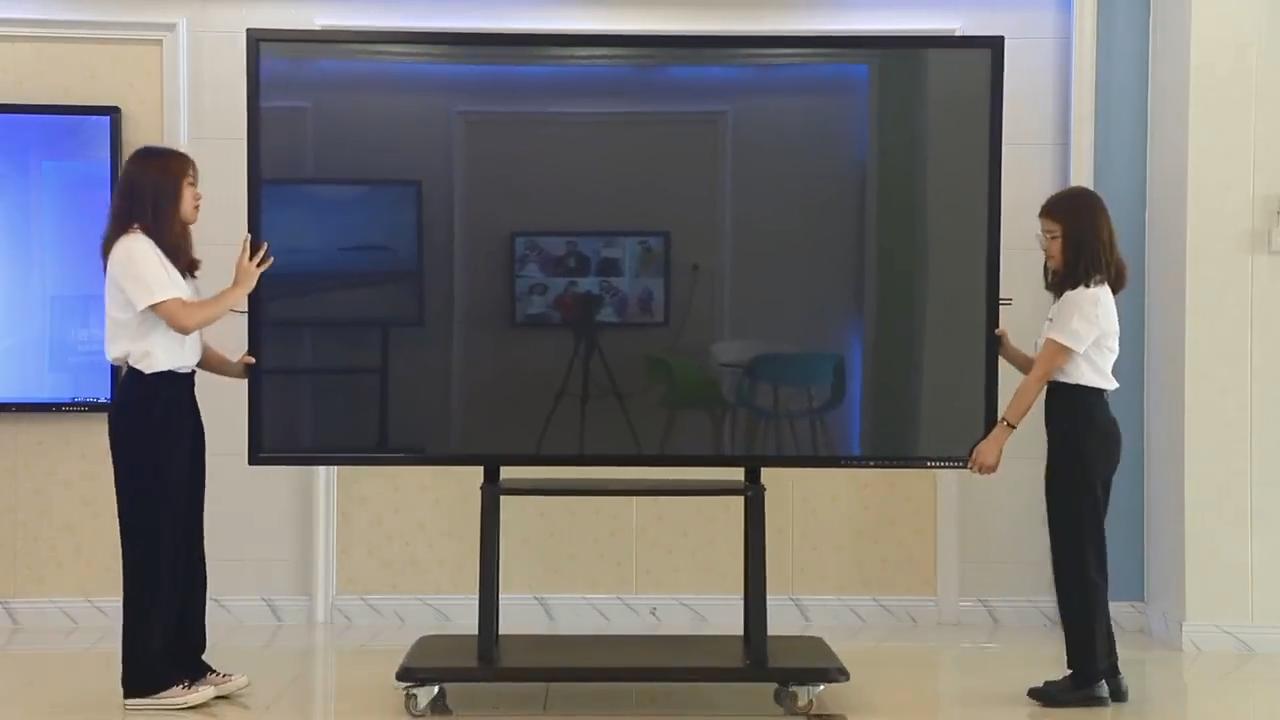 86 Inch 4K Ir Led Alle Ine Een Pc Smart Whiteboard Interactieve Muur Gemonteerde Touch Screen