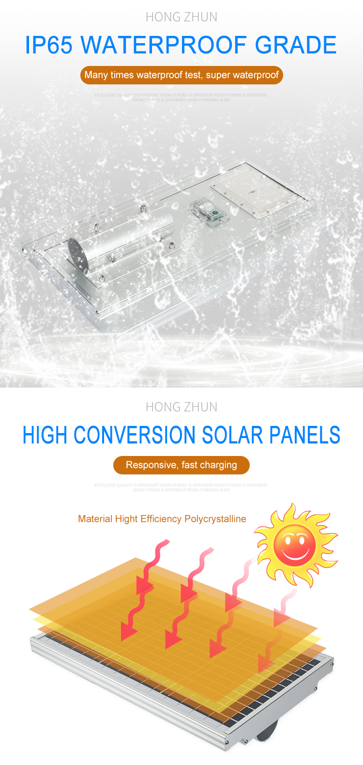 High lumen bridgelux IP65 waterproof Aluminum 50w 100w 150w integrated all in one led solar streetlight