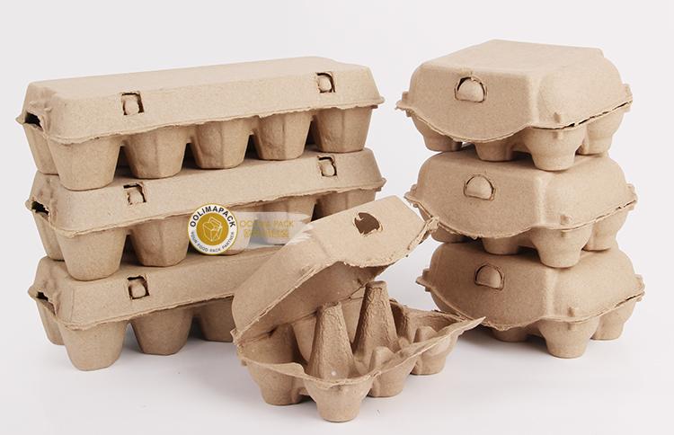 Эко-дружественных одноразовые биоразлагаемые повторно использовать массы упаковки 6/8/12 упаковка картонная коробка для яиц лоток держатель коробки