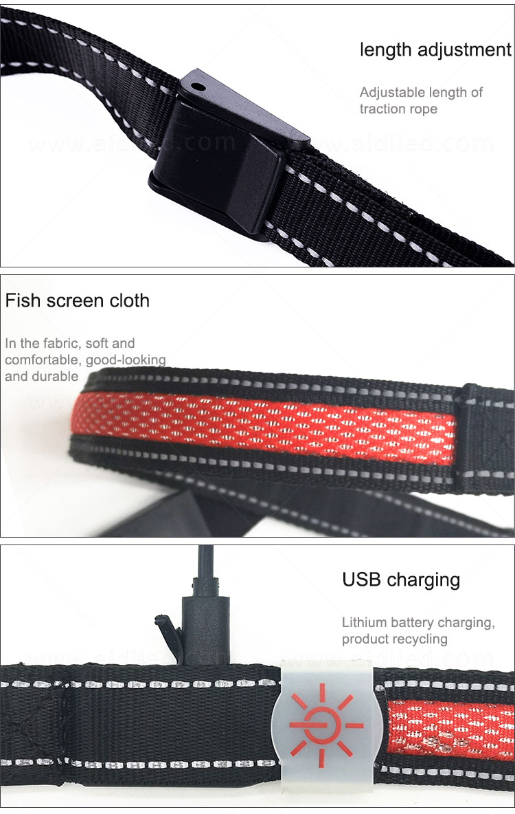 product-AIDI-Hot sale flashing style LED Mesh Dog Leash-img-2