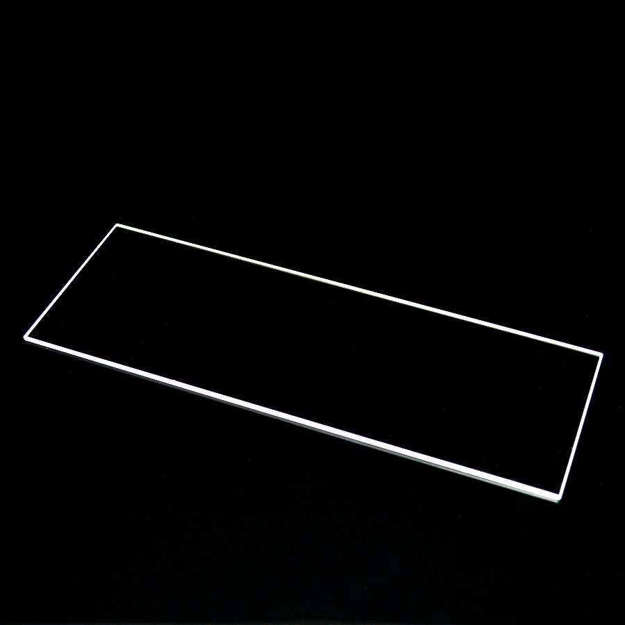 HF high quality chamfering clear fused quartz glass sheet silica glass plate