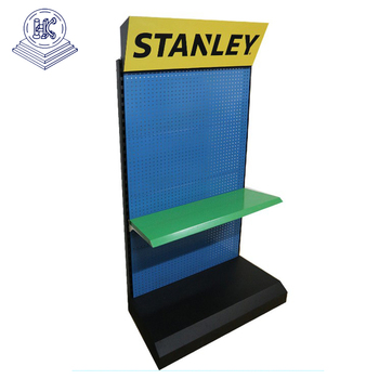 floor stand pegboard hardware display shelf