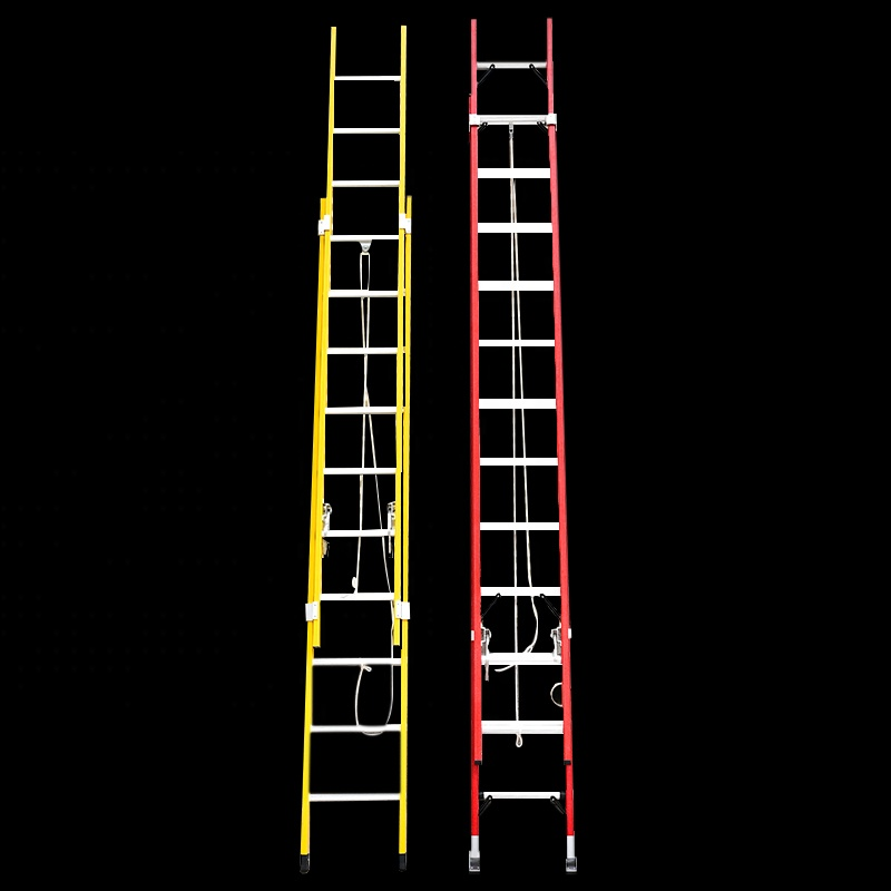 2017 new design 2 or 3 sections 6M /8M/ 10M /12M Fiberglass MULTI-PURPOSE Extension Ladder
