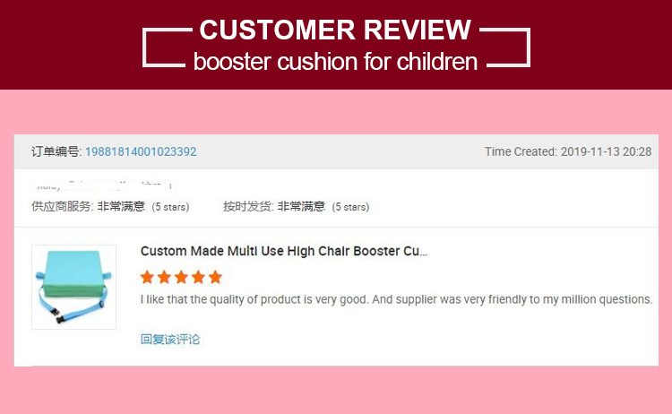 Height Increase Kitchen Chair High Chair Booster Seat Cushion Pads for Kids